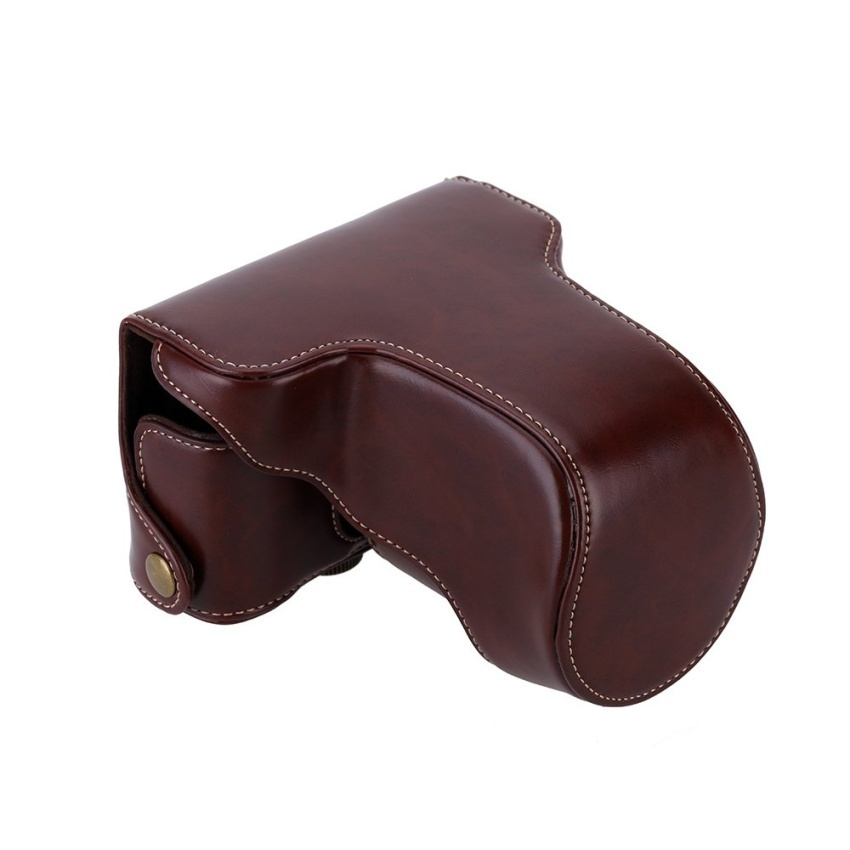 Classic Pu Leather Camera Case Bag Protective Pouch With Shoulder Strap For Fuji Fujifilm Xa10 Xa 10 X A1 X A2 X A3 X M1coffee Intl - Daftar Harga Termurah