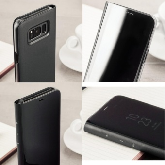 ... Clear Flip View Standing Cover for Samsung Galaxy S8 (Black) - 5