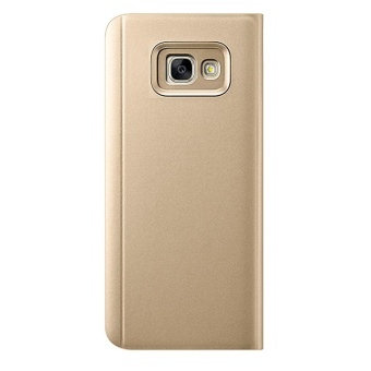 Clear View Flip Stand Case Cover For Samsung Galaxy J5 Prime Gold - intl - 2