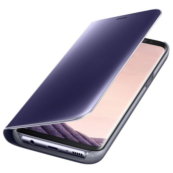 Clear View Flip Stand Case Cover For Samsung Galaxy S8 Plus Purple- intl - 5