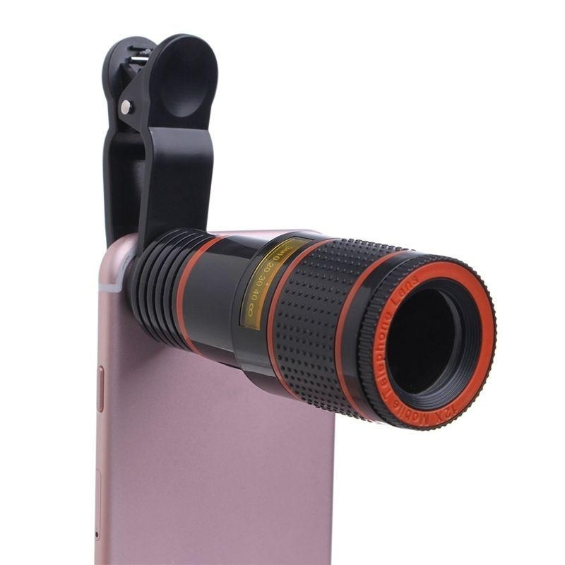 Clip-on 12x Optical Zoom HD Telescope Camera Lens For UniversalMobile Phone - intl