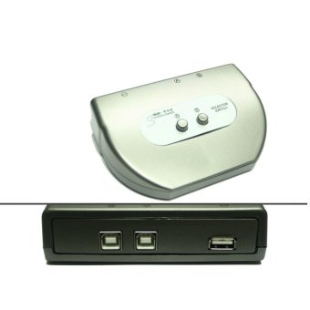 COMMANDER MS-USBA12 USB Switch Box 2 USB-B to 1 USB-A Out (Grey)