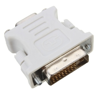 Computers Laptops Vga Cables Dvi-D 24+1 Male To Vga Female Adapter (White) - intl - 2