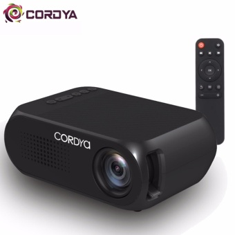 Cordya YG320 1080p LCD Portable Projector for Home Cinema Theater TV (Black)