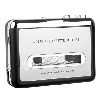 CP022 2-in-1 multifunction Walkman & Classic Cassette TapeConverter USB 2.0 Audio Capture and Audio Files Editing DeviceCassette Tape OST Player & Synchronizing Converter to Mp3 WavWMA Files (Black)