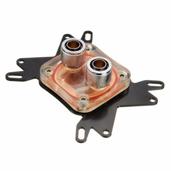 CPU Water Cooling Block Waterblock 50mm Copper Base Cool 10mm Dia Inner Channel - intl - 2