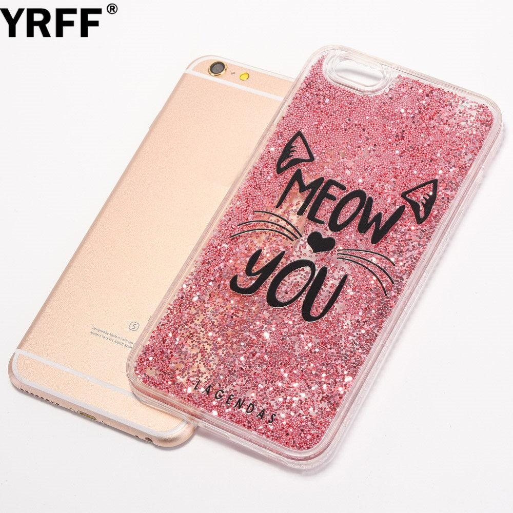 ... Cute meow cat phone Case for iPhone 6 6s back cover For iphone 6s 6Glitter bead ...
