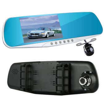 d302 4.3 Inch Car Rearview Mirror Dvr Dual Lens Car Dvr Full Hd1080p Video Recorder Car Camera Reverse Image Vehicle Dash Cam -Intl Price Philippines