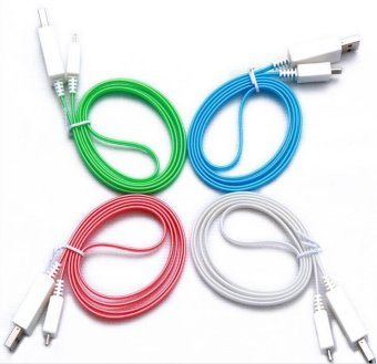 D&D LED Light Data Sync Charger i5 1m Micro USB Cable For iPhone 5/5C/5S/6/6 Plus Set of 4