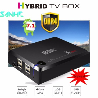 DDR4 2G/16G MECOOL KI PRO Android 7.1 Hybrid TV Box Amlogic S905D Quad Core 1000M Media Player Mini PC - intl