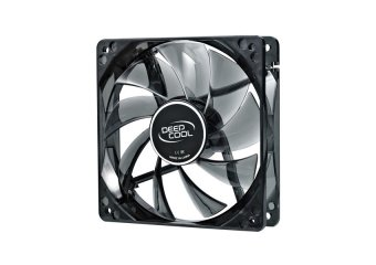 DeepCool ICE Blade Fan PWM Case Fan Hydro 3Pin Molex 21.4~32.1db900~1500rpm (Transparent Black Frame/Blue LED)