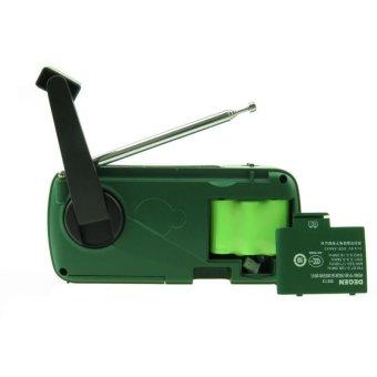 DEGEN DE13 Protable Mini Outdoor Stereo FM AM SW Radio Hand CrankGenerate Electricity/Solar Energy Charge With Flashlight - intl - 2