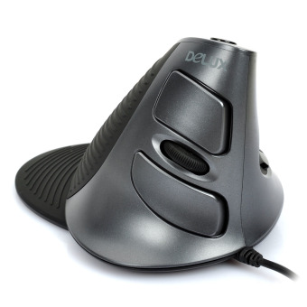 Delux M618LU Wired 2400DPI USB Vertical Optical Mouse (Black)