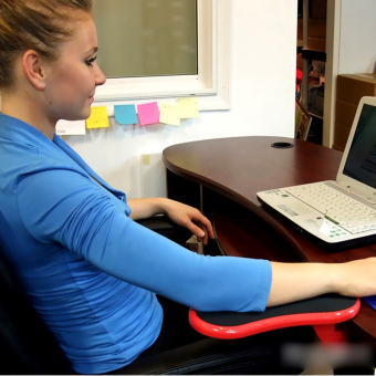 Desk Attachable Computer Table Arm Support Mouse Pads Arm WristRests (Intl) - 5