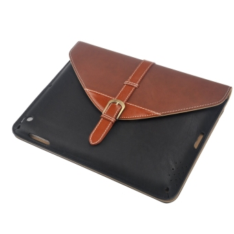 Detachable Stand PU Flip Case Set for iPad 2/3/4 Coffee Black - picture 2