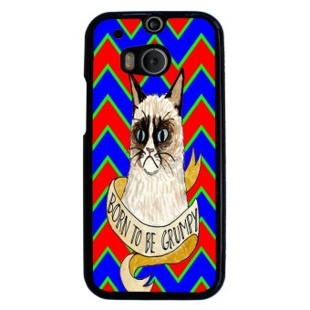Devil Cross Chevron Pattern Phone Case for HTC One M8 (Multicolor)