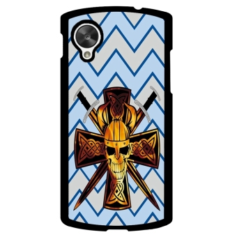 Devil Cross Chevron Pattern Phone Case for LG Nexus 5 (Multicolor)