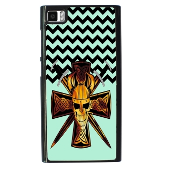 Devil Cross Chevron Pattern Phone Case for Xiaomi Mi3 (Multicolor)