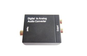 Digital Toslink Optical SPDIF Coaxial to Analog RCA Audio Converter Adapter - 2