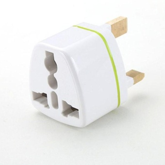 Diotem Universal US EU AU Converter to UK HK AC Travel Power PlugCharger Adapter White - intl - 2