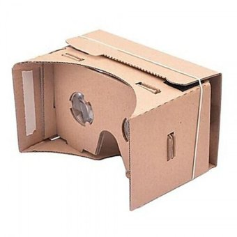 DIY Google Cardboard 3D Viewing Glasses Brown - picture 2