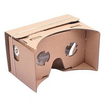 DIY Google Cardboard VR Mobile Phone 3D Viewing Glasses Brown