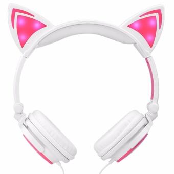DJ Cat Ears Headphones [WhitePink] - 5