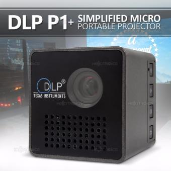 DLP P1+ Simplified Micro Portable Projector (Black)