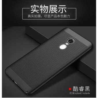 Dotted Heat dissipation case cover for Xiaomi Redmi Note 4X(black)- intl