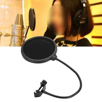 ... Double Layer Studio Recording Microphone Mic Grooseneck Windscreen Mask Net Shield Pop Filter - intl ...