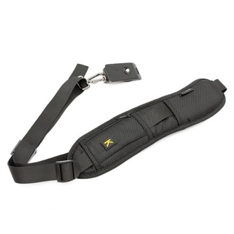 Dream high-quality,Yihya Quick Rapid Professional One ShoulderCamera Belt Sling Neck Camera Strap for Canon Nikon Sony SLR DSLRwith Card Storage Pocket Black - intl - 2