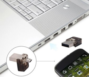 Dual OTG USB2.0 8GB Flash Drive Memory Stick Storage Thumb U Diskfor Phone PC - intl