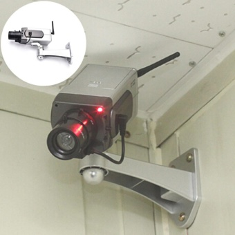 Dummy CCTV Camera Motion Detection Sensor Motorized Pan MovementBlinking LED - intl - 3
