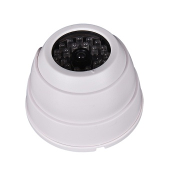 Dummy Fake Surveillance Security Dome Camera Flashing LED LightWhite - intl Price Philippines
