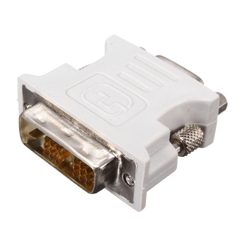 DVI-D (18+1) Dual Link Male to VGA 15 Pin Female Adapter Converter for PC Laptop