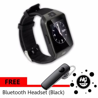 DZ-09 Smartwatch (Black) Free (Black M165 Bluetooth Headset)
