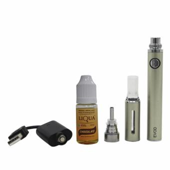 E-vod Electronic Cigarette (Silver) With Liqua Smoke Juice 10ml