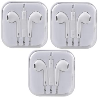 Earphone Headphone 3.5mm Headset W/Mic For Apple iPhone iPad iPodTouch Set Of 3
