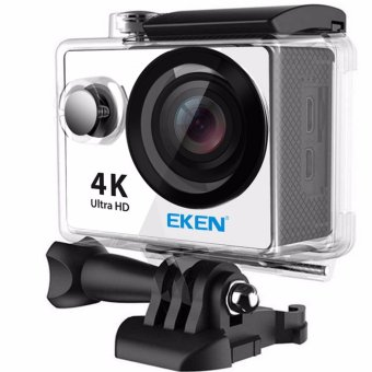 EKEN H9Rse Ultra HD 4K Wi-Fi Waterproof Sports Action Camera & 2.4G Splash proof Remote Shutter (Silver) with 3 Pieces EKEN H9 Front Skin Covers (Multi-Color) - 2