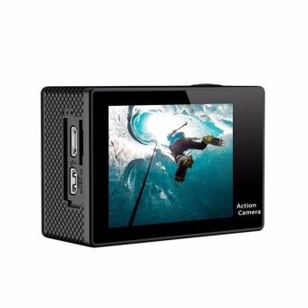 EKEN H9Rse Ultra HD 4K Wi-Fi Waterproof Sports Action Camera & 2.4G Splash proof Remote Shutter (Silver) with 3 Pieces EKEN H9 Front Skin Covers (Multi-Color) - 4