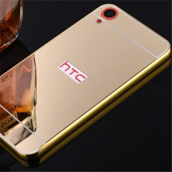 Elaike For HTC Desire 820 2 in 1 Luxury Aluminum Metal Mirror PC Phone Cover Case (Gold) - intl