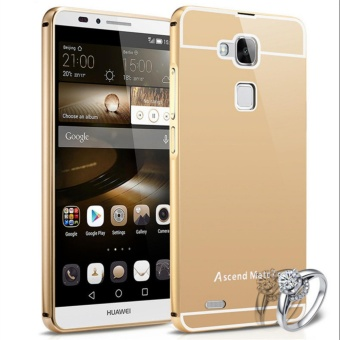 Elaike For Huawei Ascend Mate 7 2 in 1 Luxury Aluminum Metal MirrorPC Phone Cover Case (Gold) - intl
