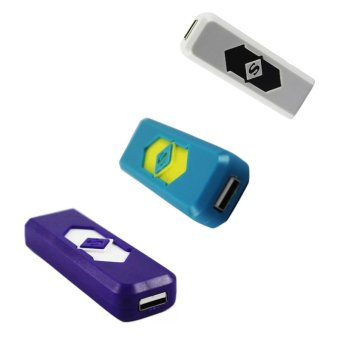 Electronic Lighter (Purple/Blue/White) Set of 3