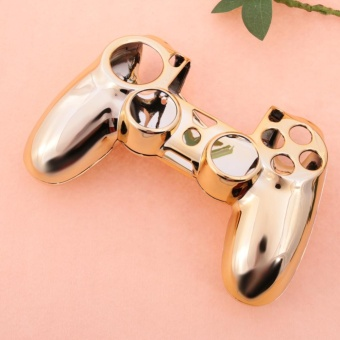 Electroplated Protective Case for PlayStation 4 ControllerGamepad(Gold) - intl - 3