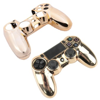 Electroplated Protective Case for PlayStation 4 ControllerGamepad(Gold) - intl - 2