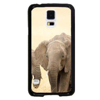 Elephant Cute Pattern Phone Case For Samsung Galaxy S5 (Black)