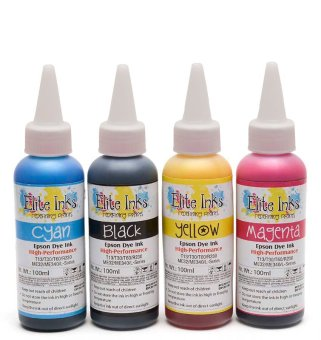 Elite Premium Japan Dye Ink Compatible for Epson 100ml - One Set (CMYK)