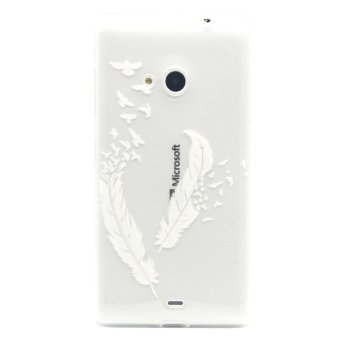 Embossed TPU Shell Case for Microsoft Lumia 535 / 535 Dual SIM(White) - 4