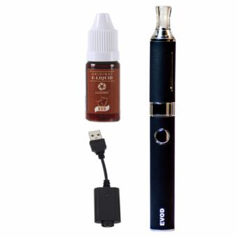 EVOD Electronic Cigarette Vape with Case (Black) with Liqua Smoke Juice for Electronic Cigarette