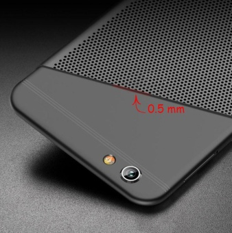 f3 plus case qzhi Ultra thin Durable breathing holes Heat TransferHard PC and Soft Metal Paint Phone Case for oppo f3 plus - intl - 3